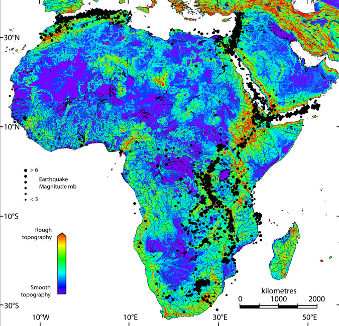 Africa Altitude Map Images - Map showing altitude
