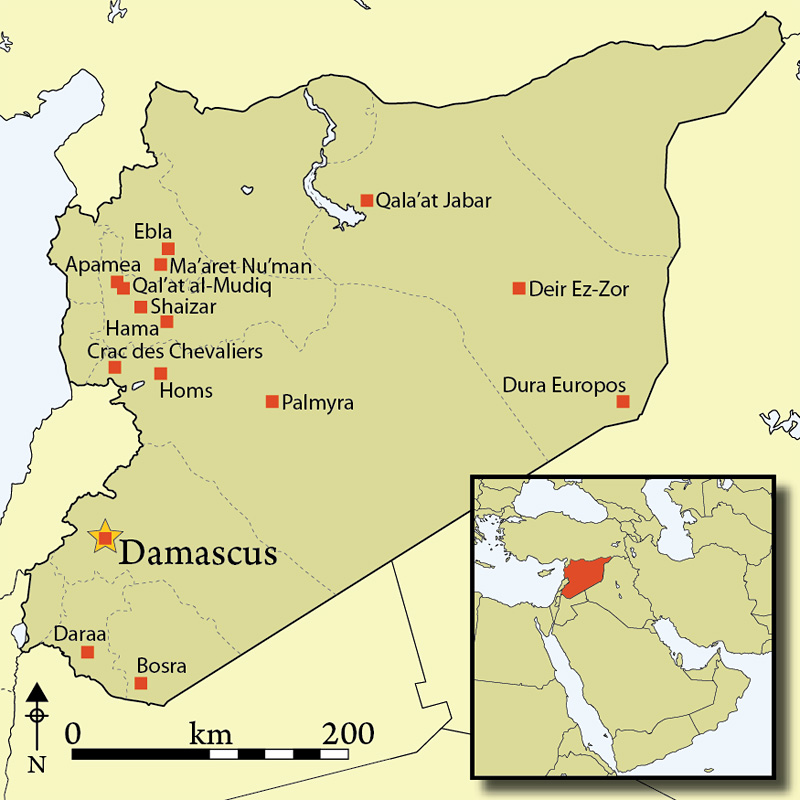 Antiquity Journal - Where is syria located on the map