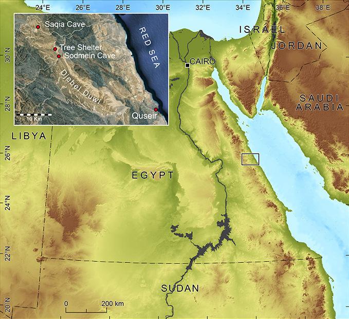 Antiquity Journal - Map of egypt eastern desert