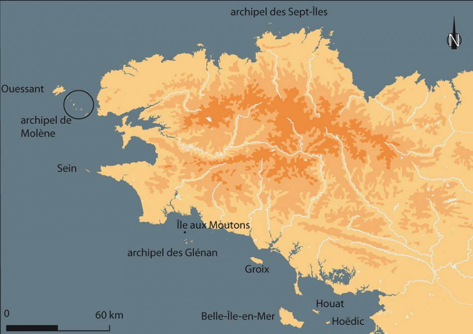 Brittany On Map Of France.The Neolithic Period On The Islands Of Brittany France Insular
