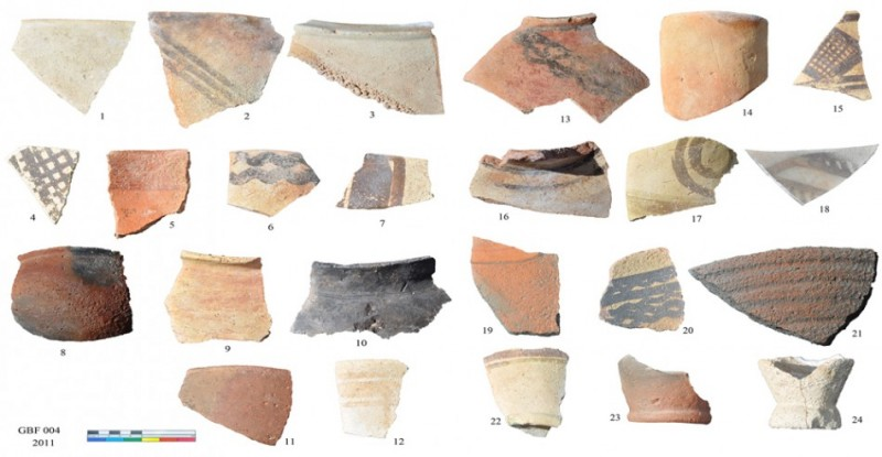 Figure 5. A selection of the collected pottery from the site (fourth and third millennium BC).