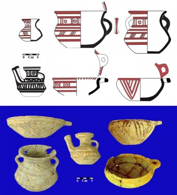Figure 5. Painted pottery vessels from the burials in trench 3.