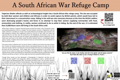 Figure 2. An information board for Telperion Shelter's South African war-period graffiti.